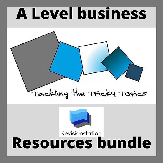 A Level Tricky Topics business worksheets teaching resources pack