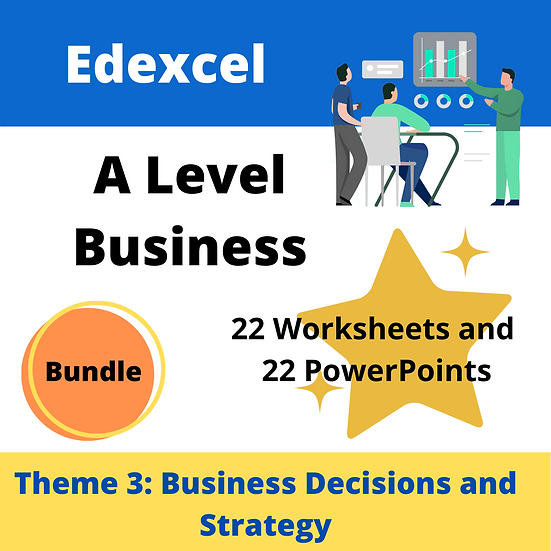 Edexcel A Level Business Theme 3 only teaching resources pack