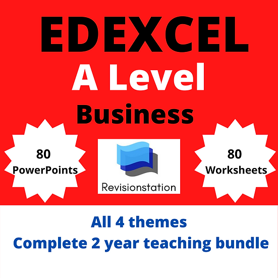 Edexcel A Level Business complete 4 theme pack