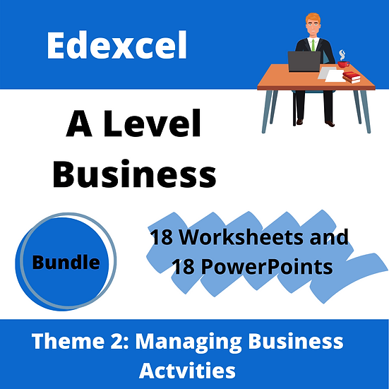 Edexcel A level Business Theme 2 only teaching resource pack