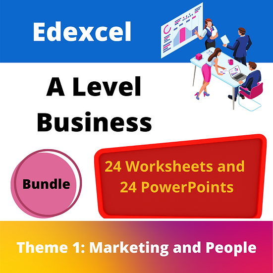 Edexcel A Level Business Theme 1 pack ONLY