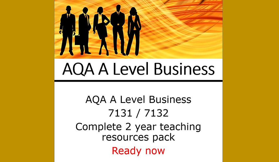 AQA A Level Business complete 2 year teaching resources pack