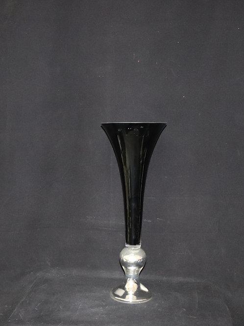 Unique Glass Trumpet w/Silver Stand