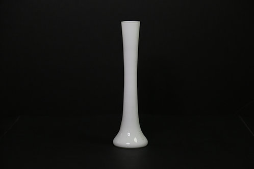 White Round Tower Vase