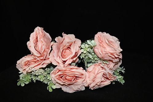 Peach Silk Roses Bouquet