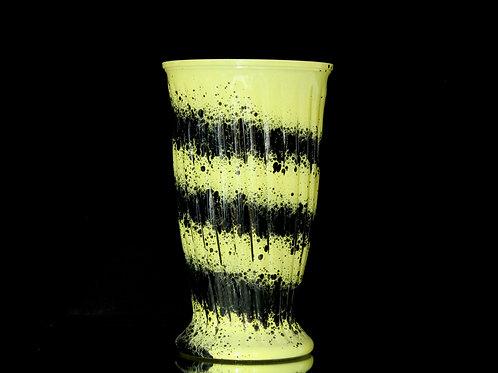 "3dz Marble Glass Rose Vase 7x12"""