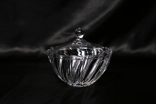 Swirl Candy Jar w/Lid
