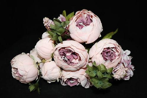 Pink1 Peony Silk Flowers Bouquet
