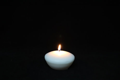 "3"" White Floating Candle"