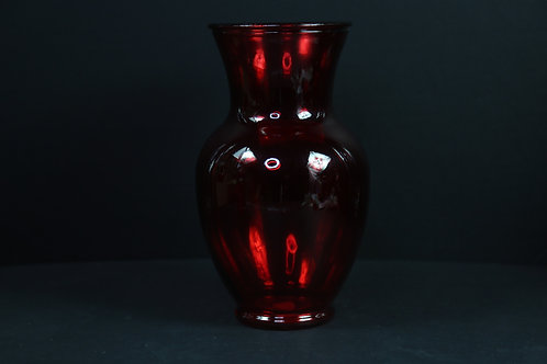 "11"" Smooth Ginger Glass vase"
