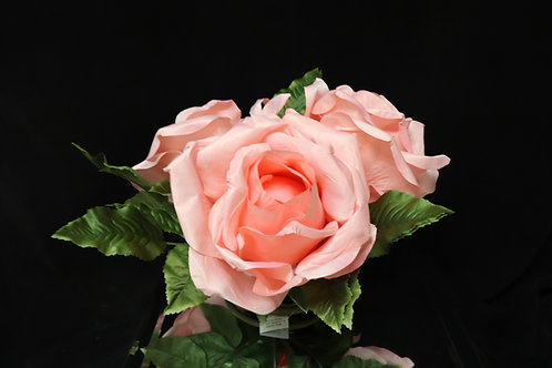 Blush Rose Bouquet w/ ring base