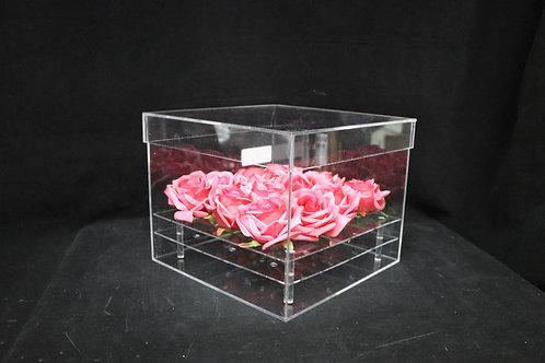 "Acrylic Sq Box w/Lid 10x8"""