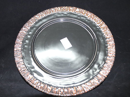 """Rimmed Glass Charger Plate 13"""""""