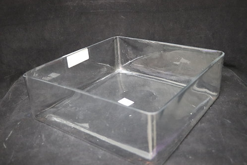 "12x4"" Clear Short Square vase"