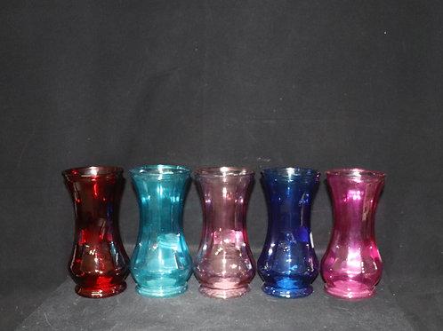 "Short Ribbed Vase 4x8.5"""