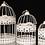 Thumbnail: Cream Metal Bird Cage 3pc/Set