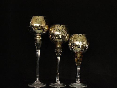 Mercury Gold Bowl Candle Holder