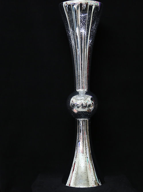 "35"" Mercury Silver Reversible Trumpet"