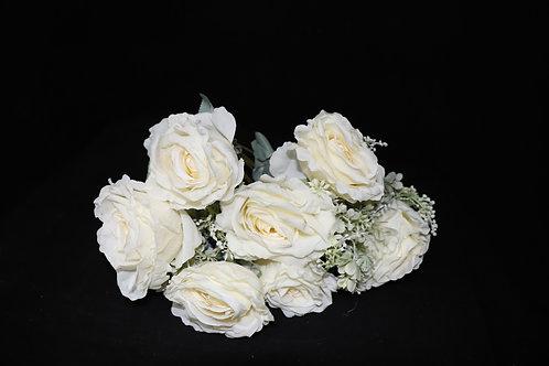 Cream Silk Roses Bouquet