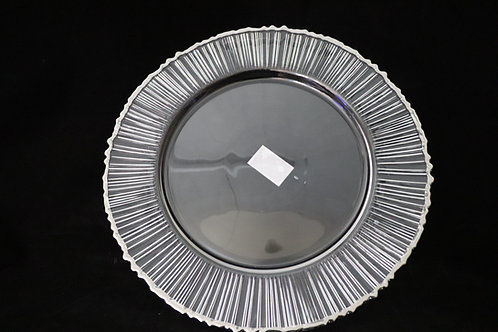 Glass Charger Plate Rimmed Color 0.5cm