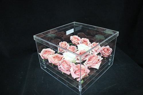 "Acrylic Square Box w/Lid 12x8"""
