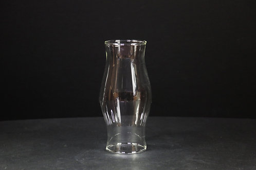 Curved Glass Candle Holder 9""