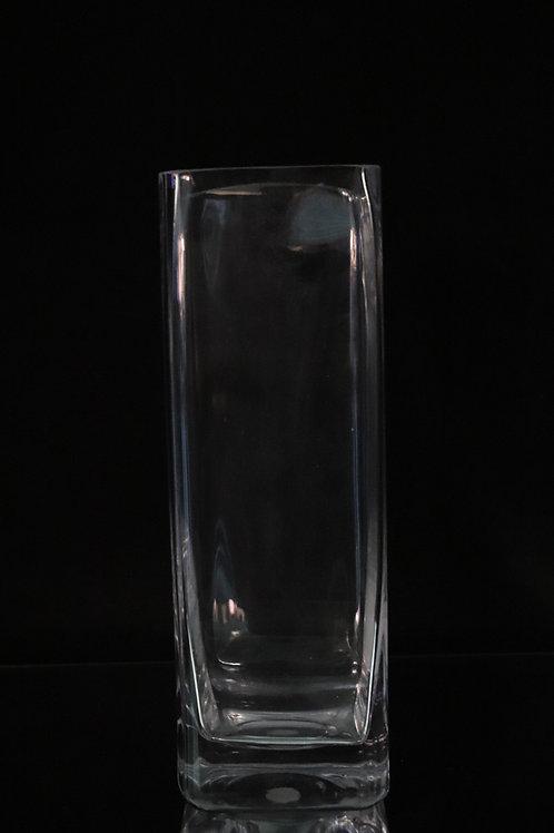 "5x16"" Tall Square glass vase"