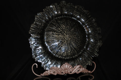 """Black Flora Charger Plate 13"""""""
