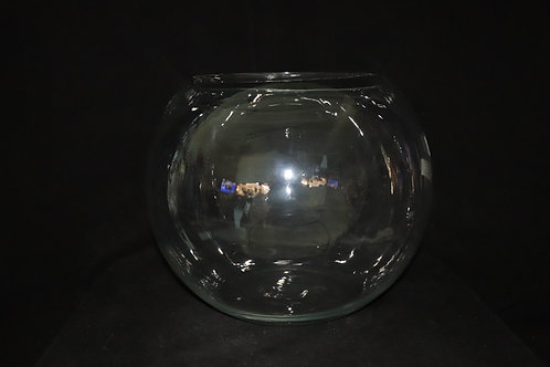 "16"" Glass Bubble Bowl"