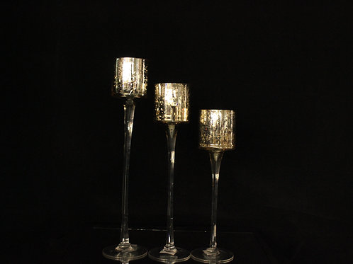 Glass Champagne Wedding Candle Holder 1103
