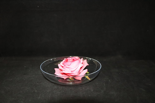 "6"" Clear Floral Dish"