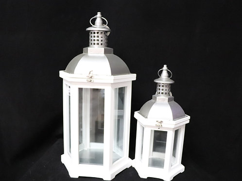 Vintage Wood Lantern Set