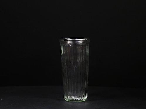 "Ribbed Rose Glass Vase 8.5"""