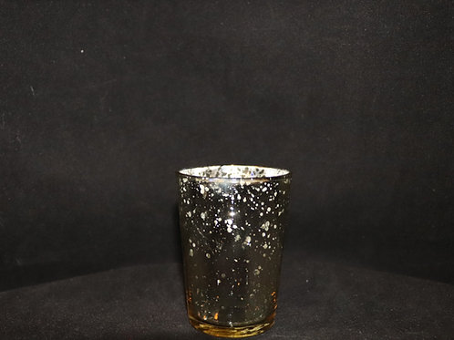 Champagne Votive Candle Holder 2.5x3.3""