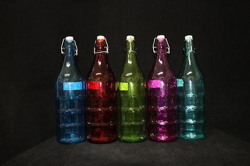 Glass Bottle w/Plastic stopper