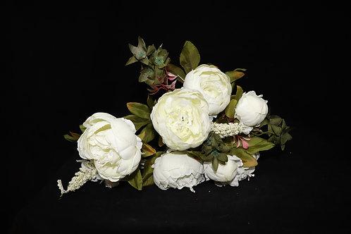 Cream Peony Silk Flowers Bouquet