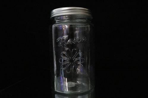 """4x8"""" Clear Mason Jar with Lid"""