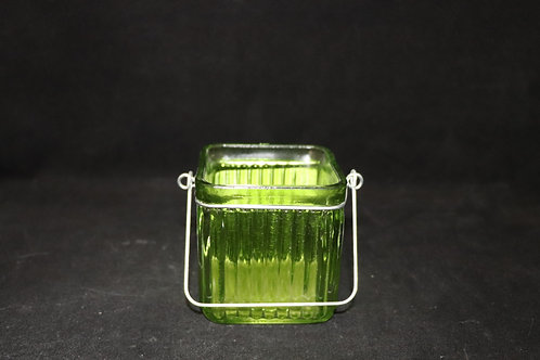 """3"""" Ribbed Cube candle holder"""