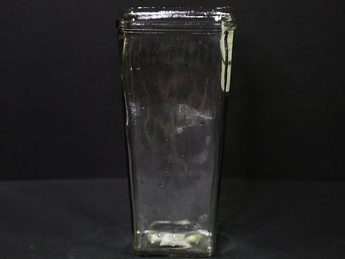 """Clear Tapered Square Vase 4x9"""""""