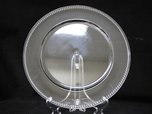 Clear Plastic Dotted charger plate 13""