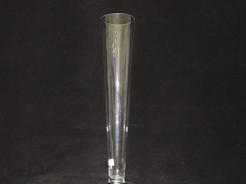 """24"""" Glass Trumpet-Cone vase"""