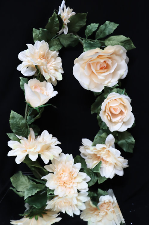 Mix Flower Garland - Champagne