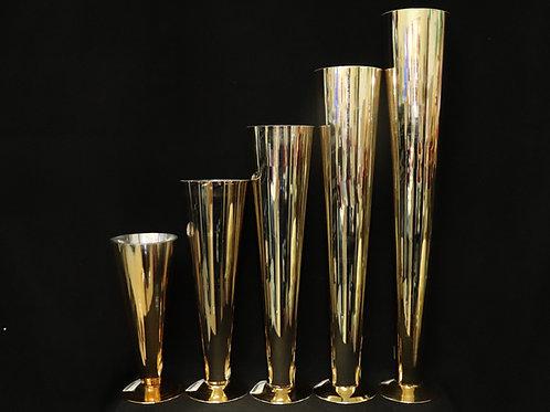 Gold Glass Trumpet-Cone