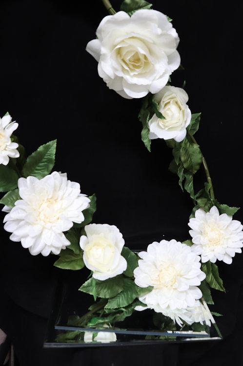 Mix Flower Garland - Cream