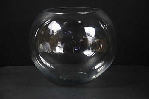 "12"" Glass Bubble Bowl"