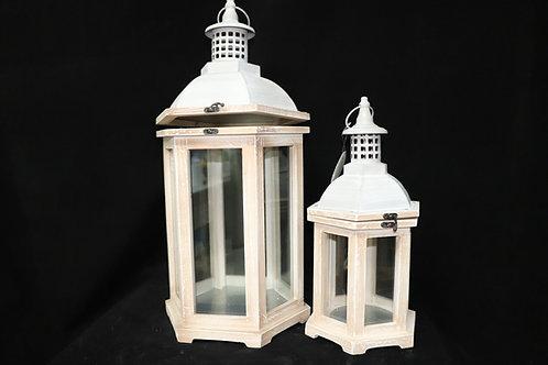 Lt Brown Vintage Lantern Set