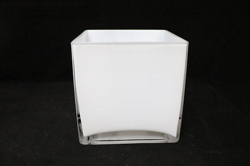 "6x6"" Square Glass Vase"