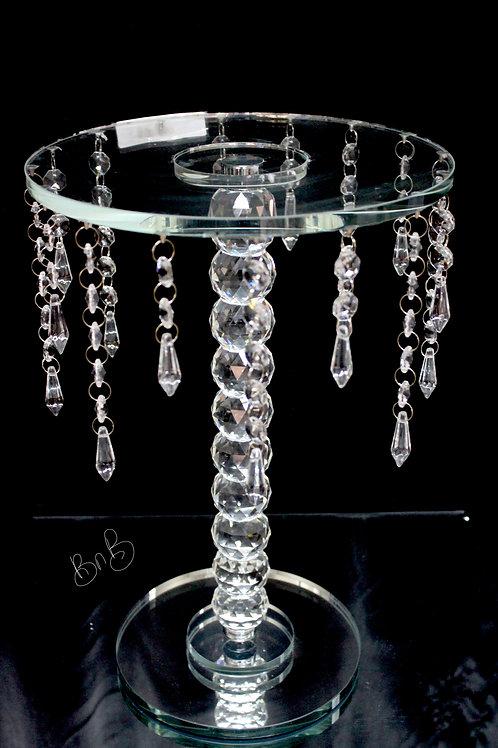 "Crystal Cake Stand 10x14"""