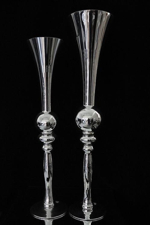 Fluted Glass Vase H1397