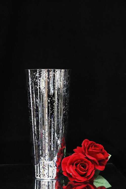 Mercury Silver Glass Cone 14""